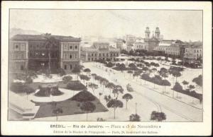 brazil, RIO DE JANEIRO, Place 15 de Novembro (1910s)