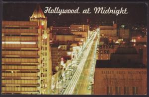 Hollywood at Midnight,CA Postcard BIN