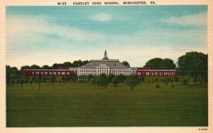 Winchester, Virginia, VA, Handley High School, Linen Vintage Postcard g8150