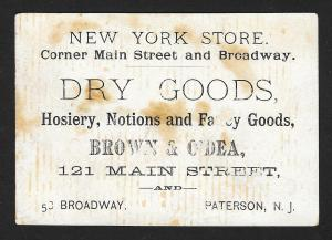 VICTORIAN TRADE CARD Dry Goods Store Black Waiter