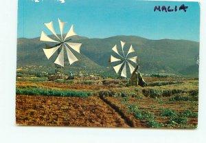 Buy Postcard Windmills Watering Mallia Greece