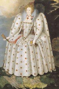 Elizabeth 1st I 1 Marcus Gheeraerts National Portrait Gallery Painting Postcard