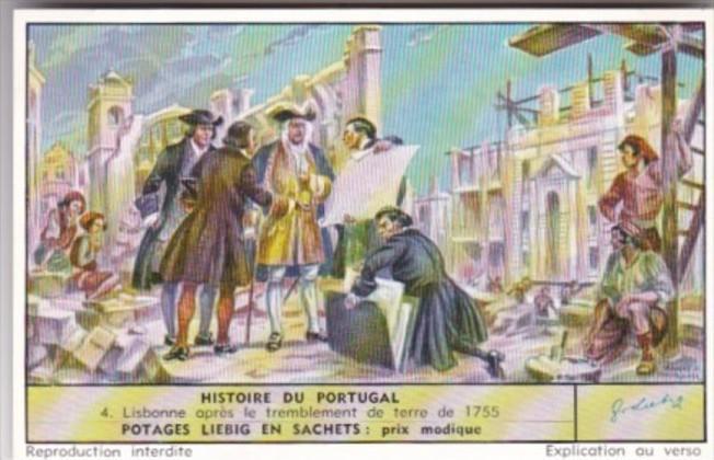 LIebig Trade Card S1680 History Of Portugal No 4 Lisbonne opres le tremblemen...