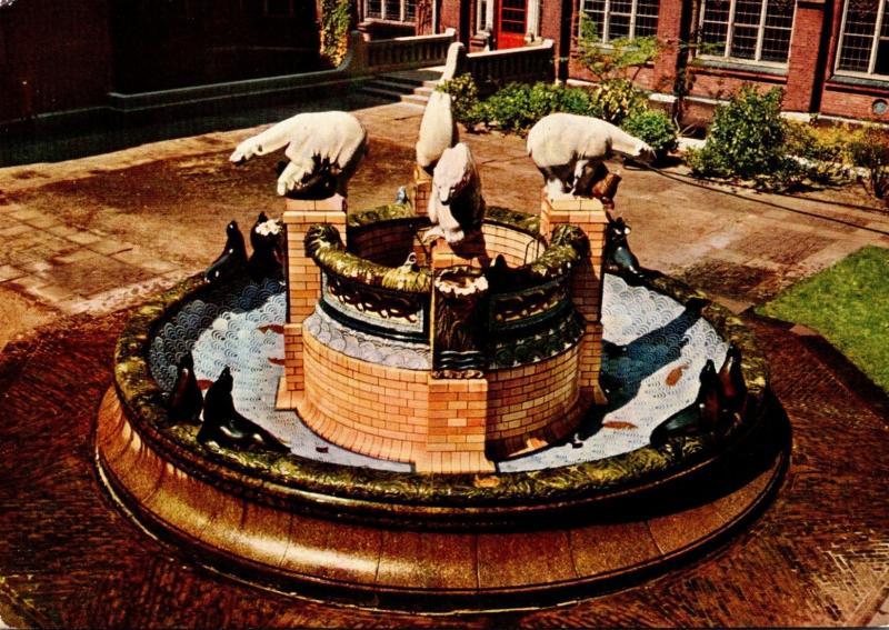 Netherlands Den Haag The Peace Palace Fountain