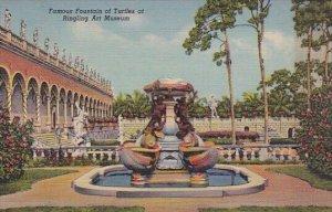 Famous Fountain Of Turtles At Ringling Art Museum Sarasota Florida
