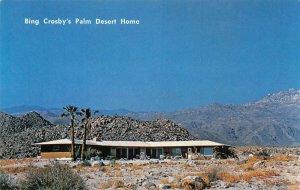 Bing Crosby's Palm Desert Home Silver Spur Ranch c1960s Vintage Postcard