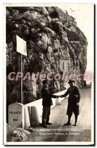 Postcard The Old Menton Border Italian Customs French and Italians