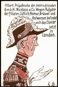 Germany WWI Anti British Prince Albert Preugelknabe Patriotic Card 81111
