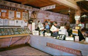California Calico Ghost Town Print Shop