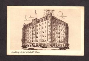 MN Spalding Hotel Duluth Minnesota Minn Postcard