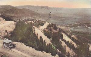 Conquering Nature, Broadmoor-Cheyenne Mountain Highway, Colorado Springs, Col...
