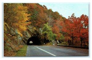 Postcard Mary's Rock Tunnel on Skyline Drive - Shenandoah National Park VA J28