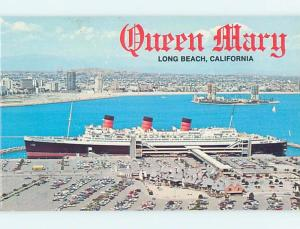 Unused Pre-1980 QUEEN MARY SHIP BOAT AT DOCK Long Beach - Los Angeles CA A3913
