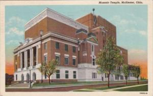 Oklahoma McAlester The Masonic Temple 1958 Curteich