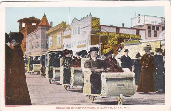 new jersey atlantic city rolling chair parads hippostcard
