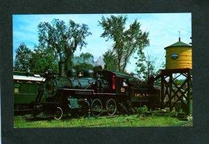 VT Green Mountain Railroad Train Loco 89 Chester Depot Station Vermont Postcard