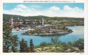 LITTLE FALLS, New York, 1910-20s; Goat Island in Erie Canal, West of Lock 17
