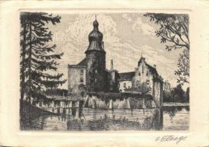 Vintage Art Postcard, Castle, Schloss Gemen, West Munsterland, Germany 6U