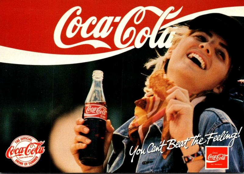 Advertising Coca Cola You Can't Beat The Feeling 1994