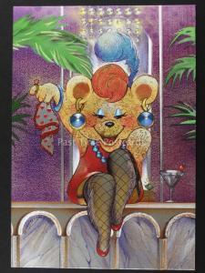 Teddy Club HONEY BEAR Ulkutay F J Warren DUFEX FOIL Postcard c1988