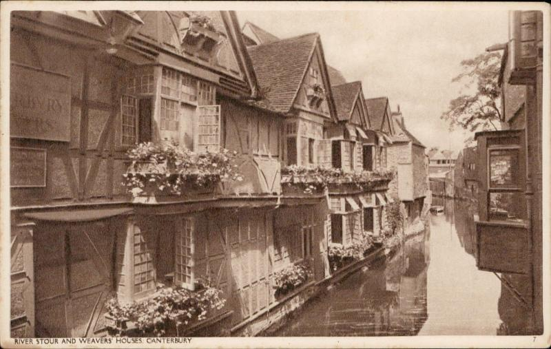 River Stour and Weavers Houses Canterbury UK