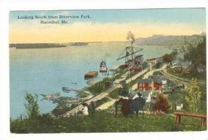 Looking South From Riverview Park,Hannibal,MO,00-10s -  Missouri