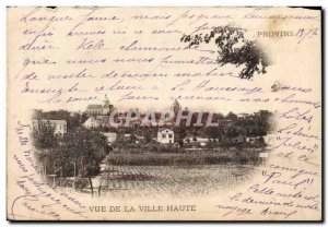 Provins Old Postcard View of uptown