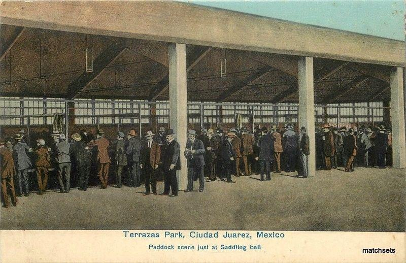 C 1910 Terrazas Park Ciudad Juarez Mexico Postcard 95
