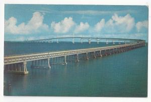 MD Chesapeake Bay Bridge Maryland Vtg Chrome Postcard