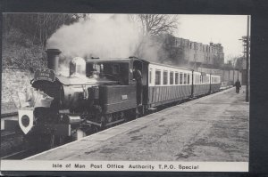 Railways Postcard - Isle of Man Post Office Authority T.P.O.Special Train  HP230