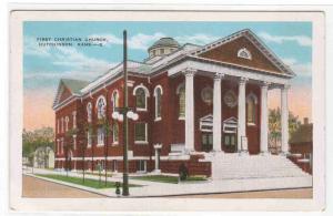 First Christian Church Hutchinson Kansas 1920c postcard