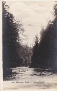 RP: Suspension Bridge over Capilano Canyon , B.C. Canada , 1910s