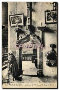Old Postcard Perros Guirec Interior of the Church of Our Lady of clarity