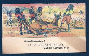 VICTORIAN TRADE CARD CM Clapp & Co