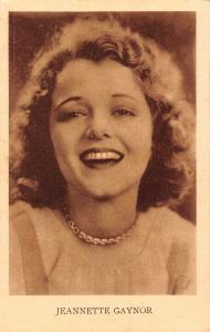 Jeannette Gaynor Portrait Postcard