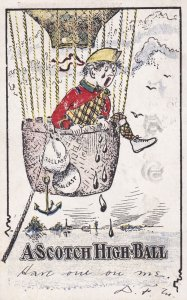 Balloon comic; A Scotch High Ball , PU-1905