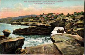 View of Sphinx Head Cave, La Jolla San Diego CA Vintage Postcard O20