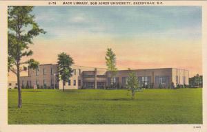 Mack Library, Bob Jones University, Greenville, South Carolina, 30-40´s