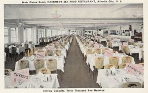 ATLANTIC CITY , NJ, 30-40s; Main Dining Room, Hackney's Sea Food Restaurant