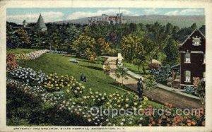 State hospital, Binghamton, NY, USA Medical Hospital 1925 small crease left t...