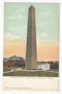 Bunker Hill Monument Boston Mass MA Vntg UDB Postcard c 1905