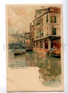171848 ITALY VENEZIA by Manuel Wielandt Vintage litho postcard