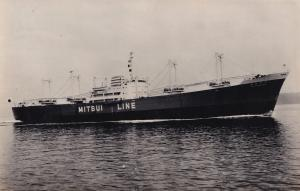 MS Hagurosan Maru Ship Mitsui Line Japanese Vintage Photo