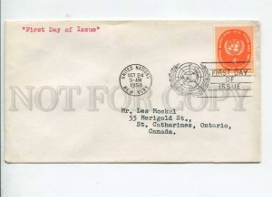 291242 UNITED NATIONS 1959 New York First Day COVER