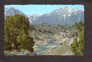 NV Hot Creek Eastern Sierra near Warm Springs Nevada Postcard
