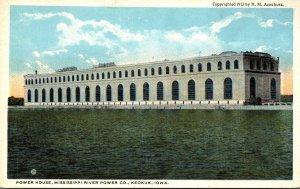 Iowa Keokuk Power House Mississippi River Power Company Curteich