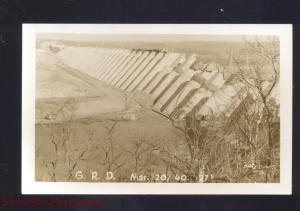 RPPC VINITA OKLAHOMA GRAND RIVER DAM CONSTRUCTION OLD REAL PHOTO POSTCARD