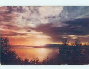 Pre-1980 SUNSET ON WATER Anchorage Alaska AK hn4980