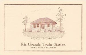 New Jersey Cape Mays Rio Grandle Train Station Dried & Silk Flowers