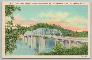 Middleboro Kentucky~Clinch River Bridge~Hwy 33~Vintage Postcard